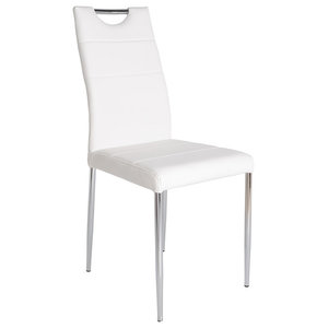 Chicago Faux Leather Chair, White