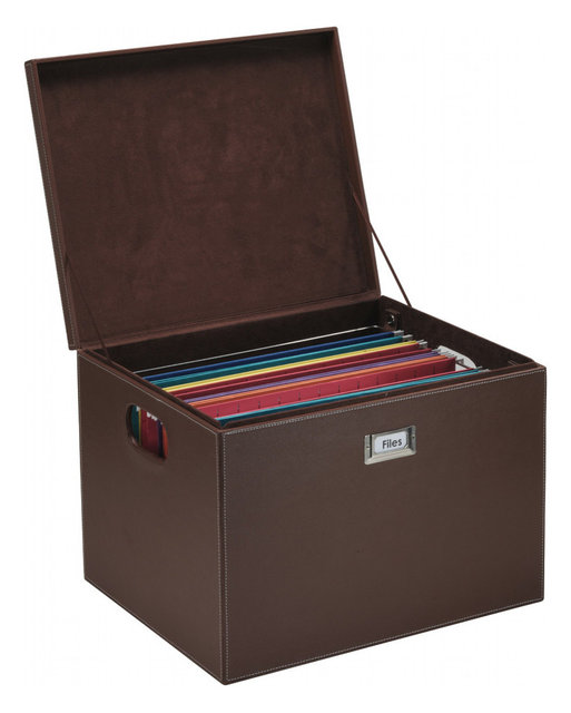 Decorative Office File/Portable Storage Box For Hanging Folders - Contemporary - Filing Cabinets ...