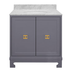 Worlds Away Candace Bath Vanity, Gray Gold