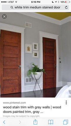 Stained door and white trim what color jamb