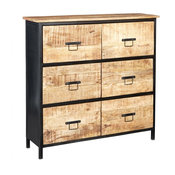 Cosmos Industrial Chest of Drawers, 6 Drawers