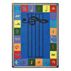 "Kid Essentials Rug, Note Worthy, Elementary, 7'8""x10'9"""