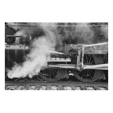 Tennessee Valley Railroad, Steam Train Photo, Black and White Photography