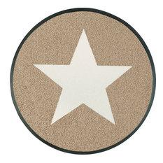 Stars Door Mat, Beige, 75x75 cm