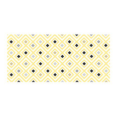Yellow Diamond Vinyl Sticker, Yellow, 120x95 cm