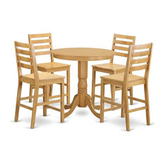 5-Piece Dining Counter Height Set Pub Table And 4 Dining Chairs