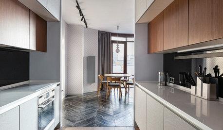 Фотоохота: Кухня в коридоре — 20 фото