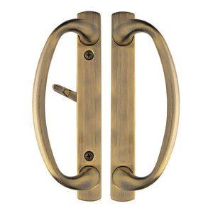 with Mortise Lock and Keeper Included. Rockwell Charlotte Offset Keylocking Sliding Door Handle with 3//4 Offset Keylock in Solid Brass