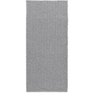 Ola Woven Vinyl Floor Cloth, Black, 70x200 cm
