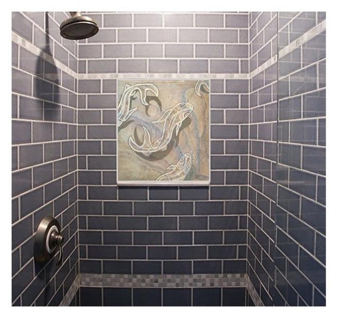 "Bath, Shower & Spa Tiles- ""Upstream Downstream"""