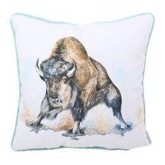"Buffalo Indoor/Outdoor Pillow, 16""x16"""