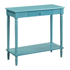 Convenience Concepts   French Country Hall Table, Blue   Console Tables