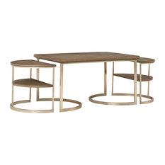 Maxwell Wood Metal Nesting Coffee Table