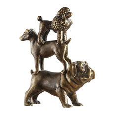 Dog Trio Sculpture