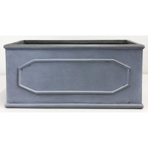 Window Box Faux Lead Chelsea Grey Light Stone Planter, Large