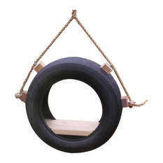 Wood Tree Swings Tire Tree Swing With Rope and Free Hanging Kit