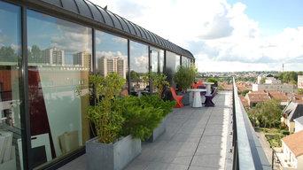 terrasse -ouest du 6e étage du bâtiment
