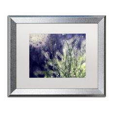 """Czyzowska Young 'Secrets of Nature' Art, Silver Frame, 16""""x20"""", White Matte"""