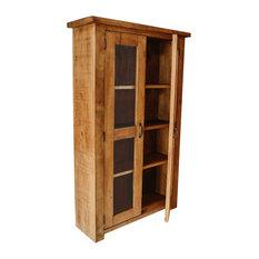 Curiosity Interiors Sherwood Plank Waxed Glazed Cabinet Display Cabinets Dressers
