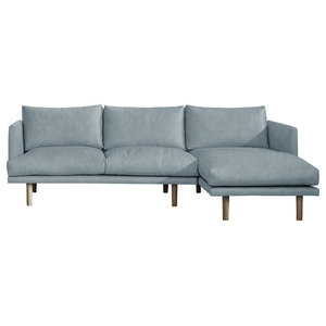 Ottilie Chaise Sofa, Wedgewood, 3 Seater, Right Hand Facing