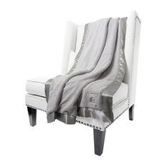 Luxe Solid Throw, Silver