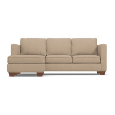 Apt2B   Catalina Reversible Chaise Sleeper Sofa, Memory Foam Mattress,  Beige   Sectional Sofas