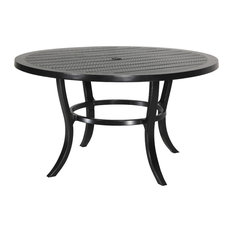 """Channel 53"""" Round Dining Table, Black"""