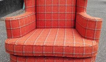 Tartan vintage chair