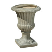 GDF Studio Napoli Antique Stone Planter, Green