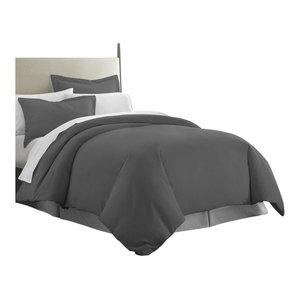 Becky Cameron Premium Ultra Soft Luxury Duvet Set, Full/Queen, Gray