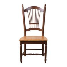 Sunset Trading 42-inch Allenridge Dining Chair | Nutmeg Light Oak | Set Of 2