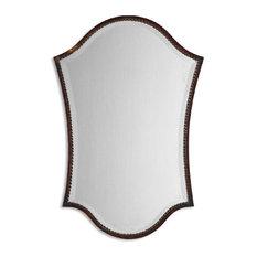 uttermost uttermost abra vanity mirror distressed bronze bathroom mirrors bathroom mirrors