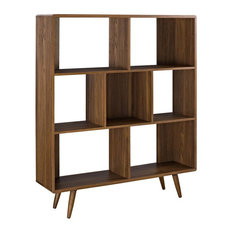 LexMod - Transmit Bookcase, Walnut - Bookcases