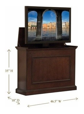 Elevate Espresso Finish TV Lift Cabinet - Traditional ...