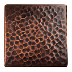 """The Copper Factory CF144 4 x 4 x 1/4"""" Solid Hammered Copper 4""""x4"""" Decorative Ac"""