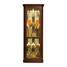 Pulaski Brown Victorian Cherry Mirrored Corner Curio