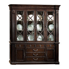 henredon double full glass china cabinet china cabinets and