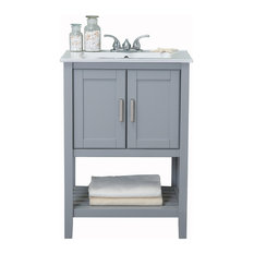 "Legion Furniture Sink Vanity Without Faucet, 24"", Gray"