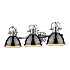 Golden 3-Light Bath Vanity, Chrome