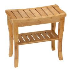 Cortesi Home CH-DB900301 Mack Natural Bamboo Bench, Small