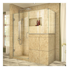 "DreamLine Unidoor Plus 48""W x 36.375""D x 72""H Shower Enclosure, Brushed Nickel"