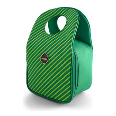 Modern Lunch Tote, Green Apple Stripes