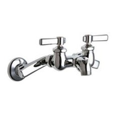 Chicago Faucets 305-R Wall Mounted Service Sink Faucet - Chrome