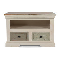 Roma Boho Mango Wood 2 Drawer TV Cabinet