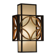 1-Light Wall Light, Heritage Bronze, Parissiene Gold