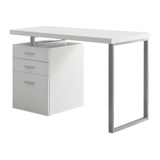 Left or Right Facing Desk in White