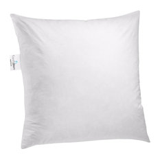 """ComfyDown 95% Feather 5% Down Square Decorative Pillow Insert, 20""""x20"""""""