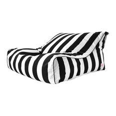 indosoul indosoul tropez uluwatu outdoor double bean bag black u0026 white stripe bean - Black And White Striped Chair