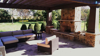 K Family Pergola, Fireplace and Patio