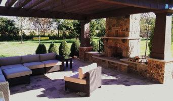 K Family Pergola, Fireplace and Patio